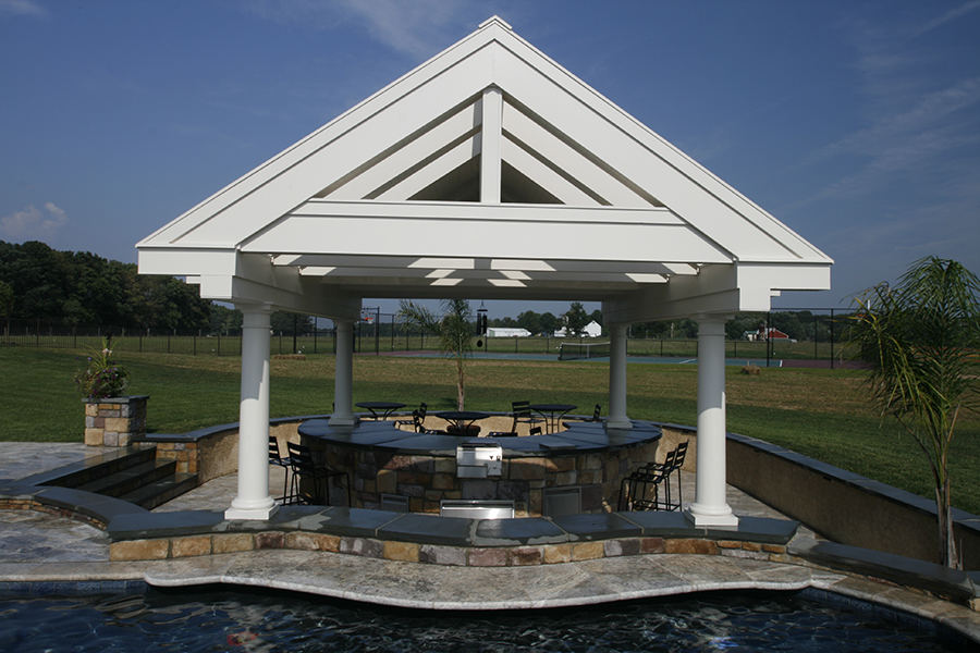 outdoor bar with pergola