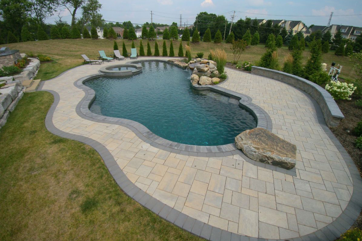 Pool backyard design service maintenance montgomery for Pool design maryland